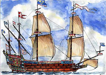 sabordi e mantelletti (a losanga)...tipologie e alberatura dei vascelli dei primi del XVII sec...e molto altro Kronan10