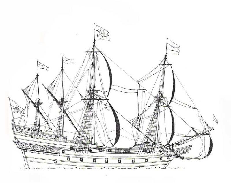 sabordi e mantelletti (a losanga)...tipologie e alberatura dei vascelli dei primi del XVII sec...e molto altro Vascel17