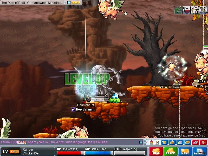 Level Up Screen Shots. Maple010