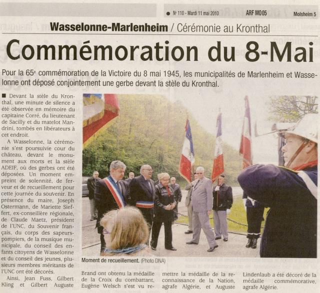 Cérémonie commémorative du 65e anniversaire de la victoire du 8 mai 1945 Image014