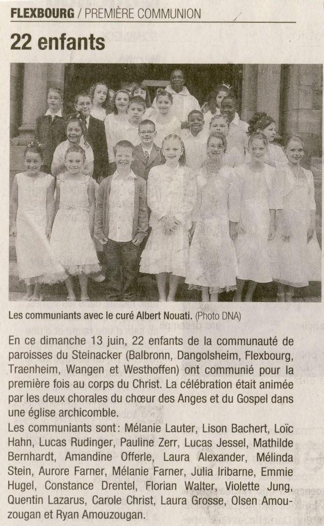 1ère communion des enfants de la Communauté de Paroisses du Steinacker le 13 juin 2010 Image069