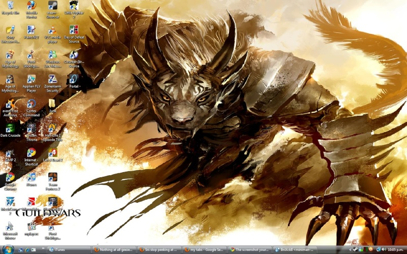 The screenshot your desktop thread. Deskto11