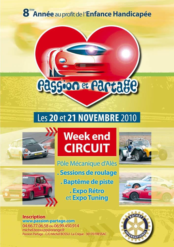 20 & 21 Novembre / Circuit Ales / Passion & Partage Affich10
