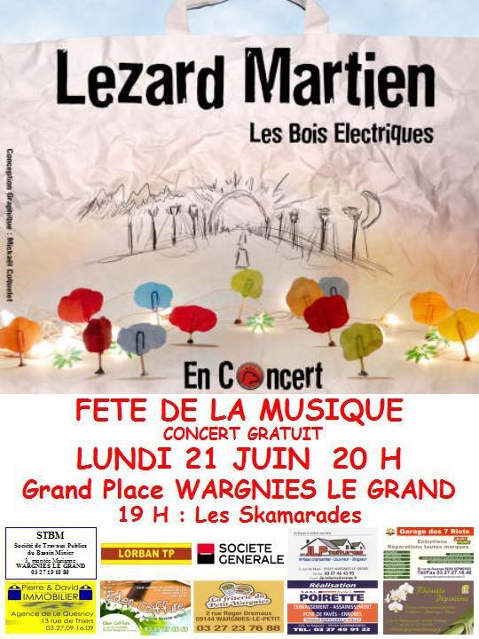Lezard Martien fête la musique le 21 juin à Wargnies le Grand !!! Concer10