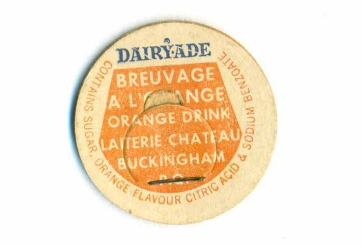 Bouchons de lait de Buckingham et Aylmer, Québec. Chatea10