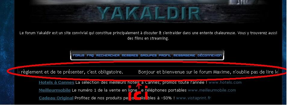 News du forum Forumy11