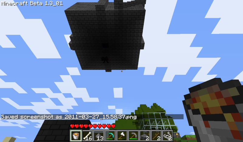 Incredibly simple mob trap tower 2011-011