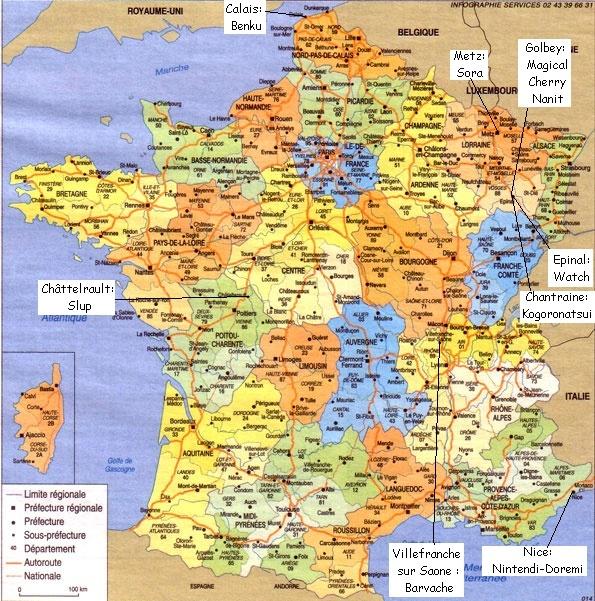 Carte de localisation des membres Cartem12