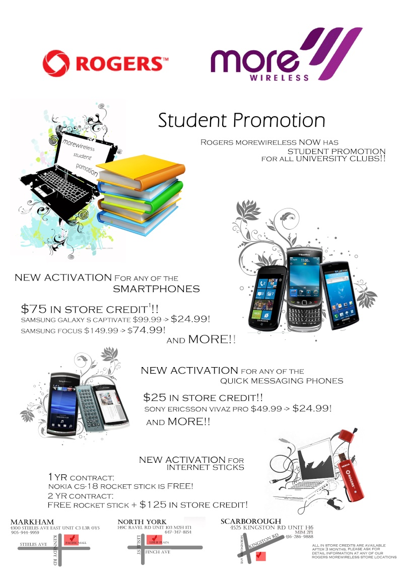 Rogers' Student Promotional Package for YTSA!!!‏ Studen10