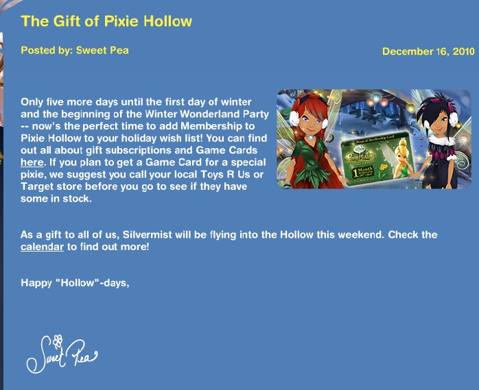 Gift Of Pixie Hollow Gift_o10