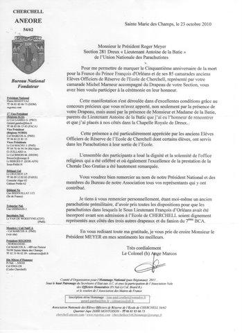 CHERCHELL, l'école oubliée: PRISE D'ARMES aux INVALIDES 8 octobre 2010 Cherch10