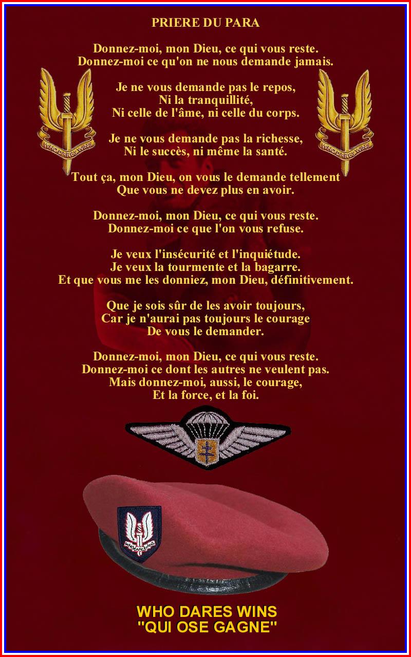 """Hommage à André Zirnheld 1er officier PARA français mort au """"Champ d'Honneur"""" Priere10"""