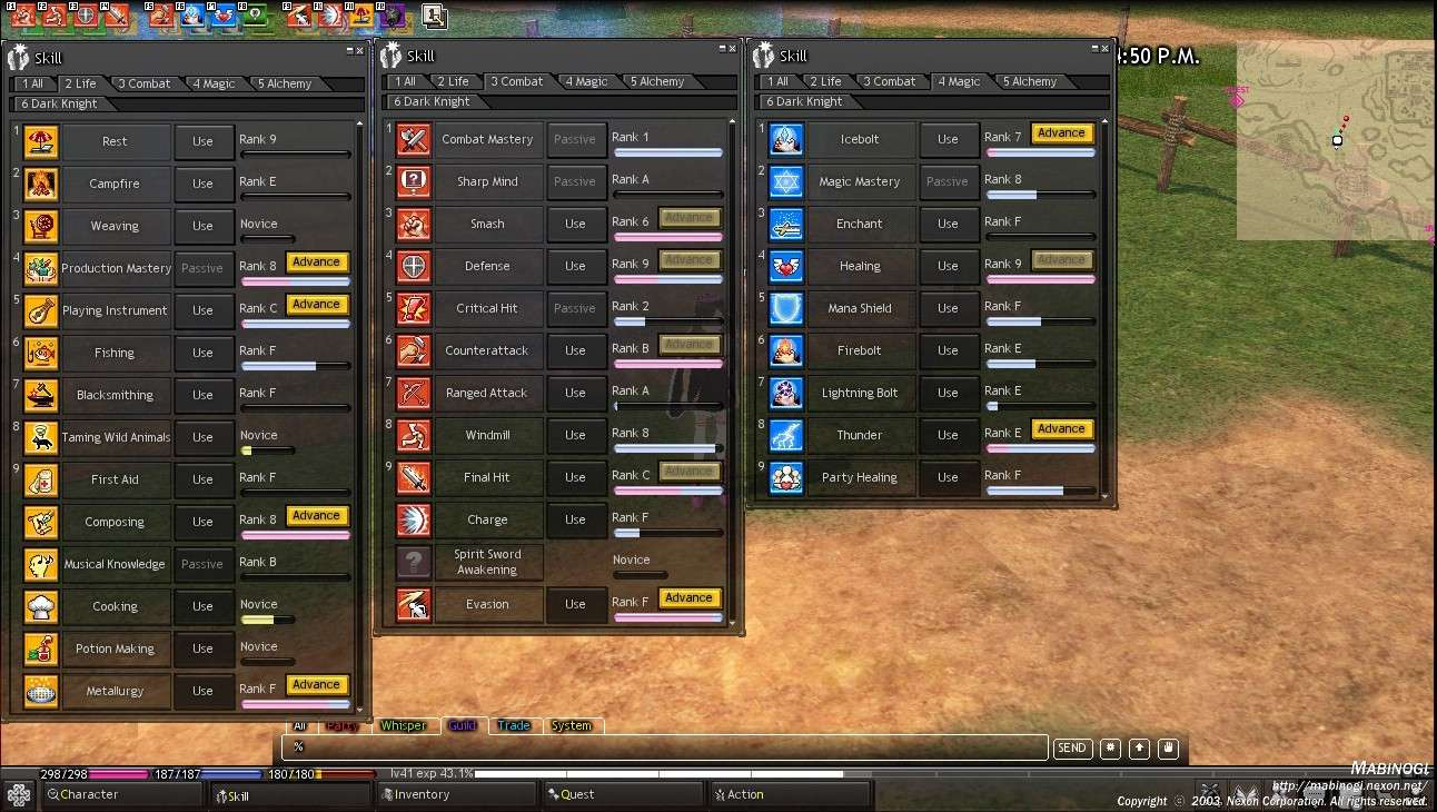 Skill Ranks and Hotkeys 8D Skills11