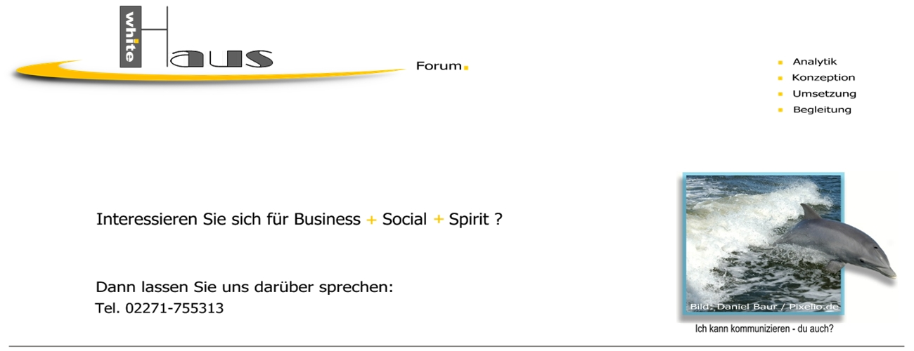white Haus Forum - Business + Social + Spirit