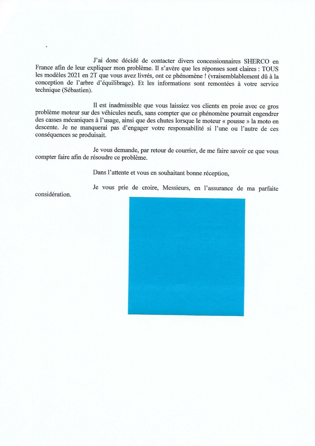 SHERCO 2T 2021 - Page 2 Lettre10