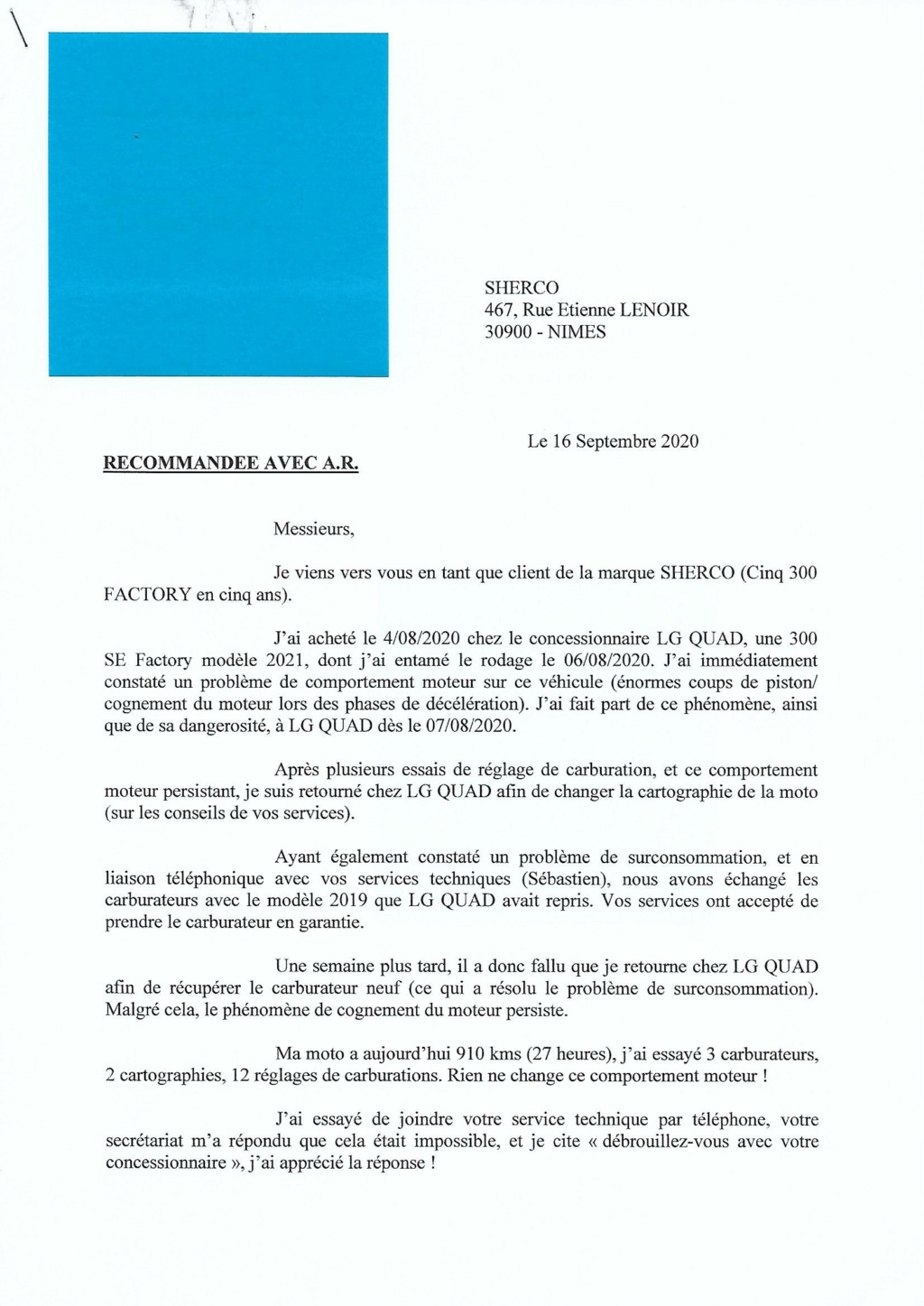 SHERCO 2T 2021 - Page 2 Lettre11