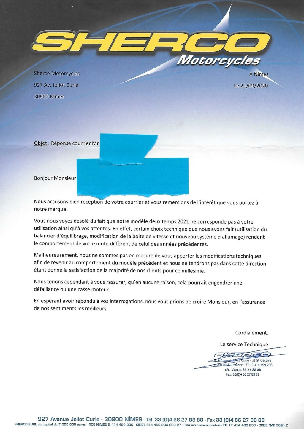 SHERCO 2T 2021 - Page 2 Lettre12