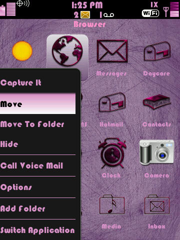 Pink Steel Themes for BlackBerry 9500  1211