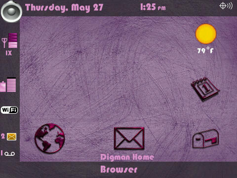Pink Steel Themes for BlackBerry 9500  1610