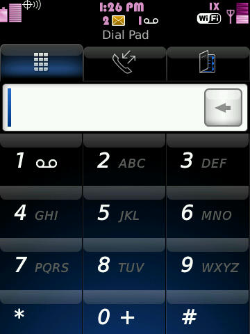 Pink Steel Themes for BlackBerry 9500  1710