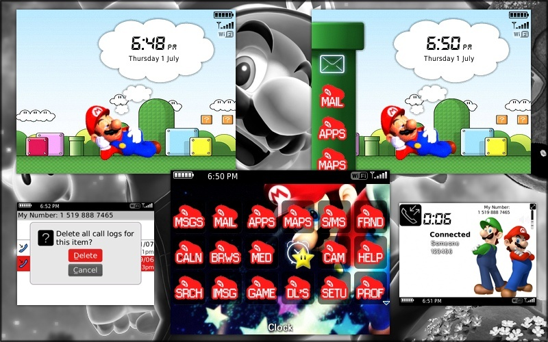 Super Mario Themes for BlackBerry 85xx Mario10