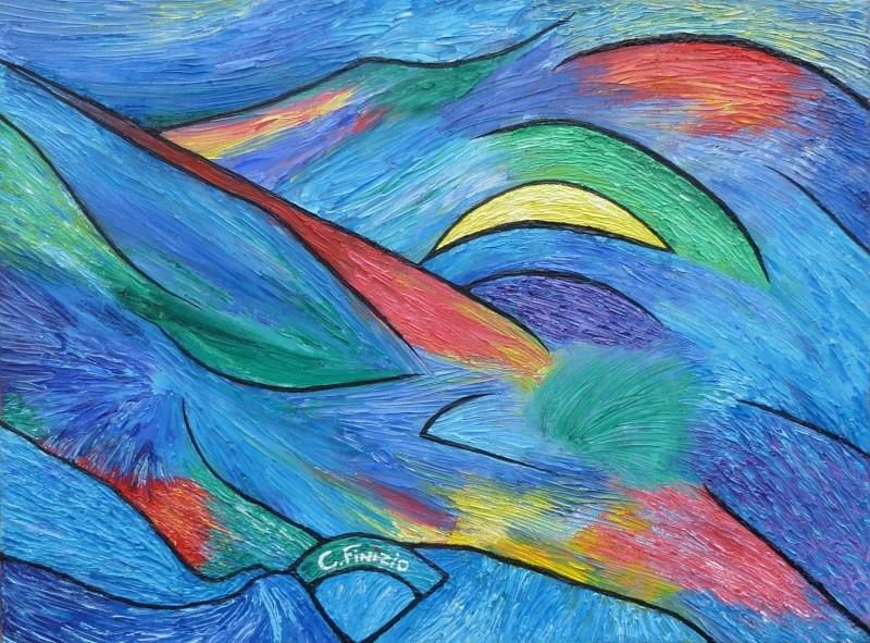 peinture abstraite huile au couteau Abstra10