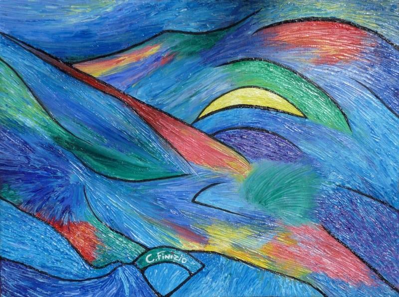 peinture abstraite huile au couteau Abstra11