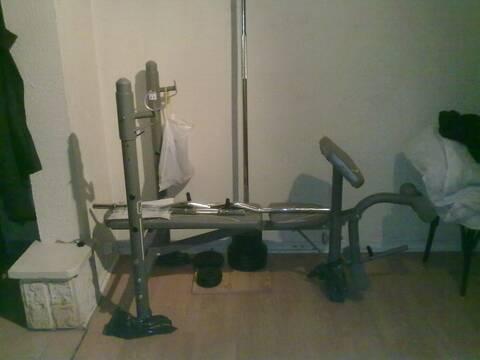 A Vendre Banc De Musculation Bm 160 Kit 52kg Barre Curl Lestes