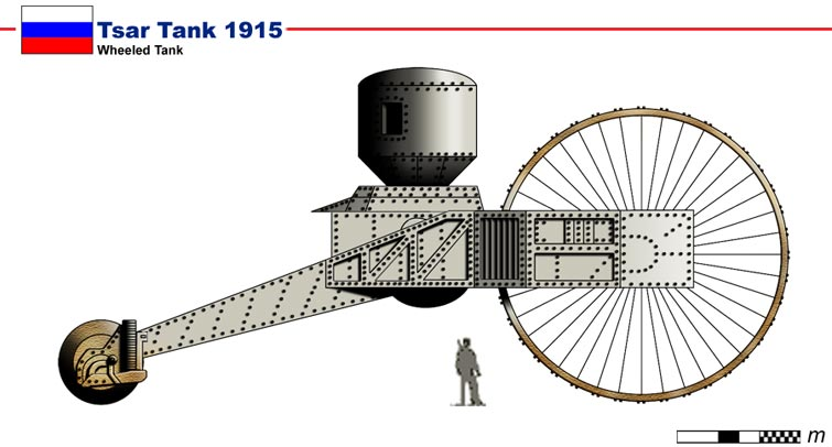 Images de tanks étranges de la première guerre mondiale  Tank410