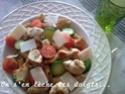 salade de pâtes : Penne rigate, poulet, courgettes, tomates... Salade10