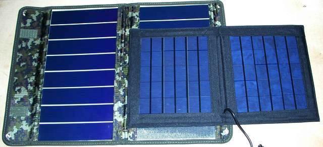 Сравнительный тест гибкой и жёсткой солнечной батареи одной мощности 2011-014