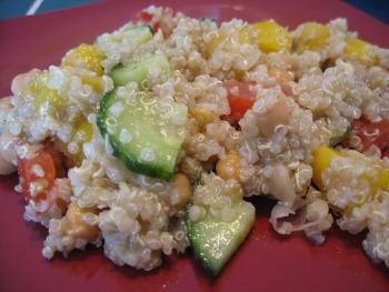 Quinoa à la mangue et aux pois chiches Quinoa10