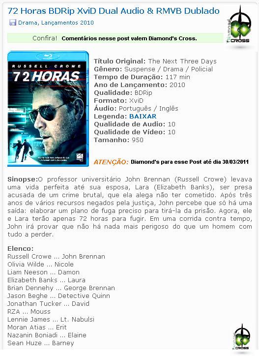 """Filmes com qualidade NOTA """"10"""" ( 72 Horas ) Valendo Diamond's Cross! 72_hor10"""