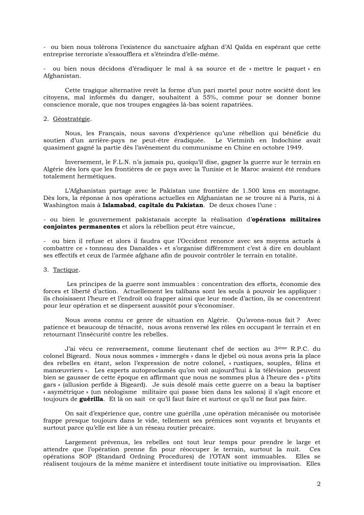 CANN François - général tire des leçons de l'embuscade d'Uzbeen - août 2008 Cann_g17