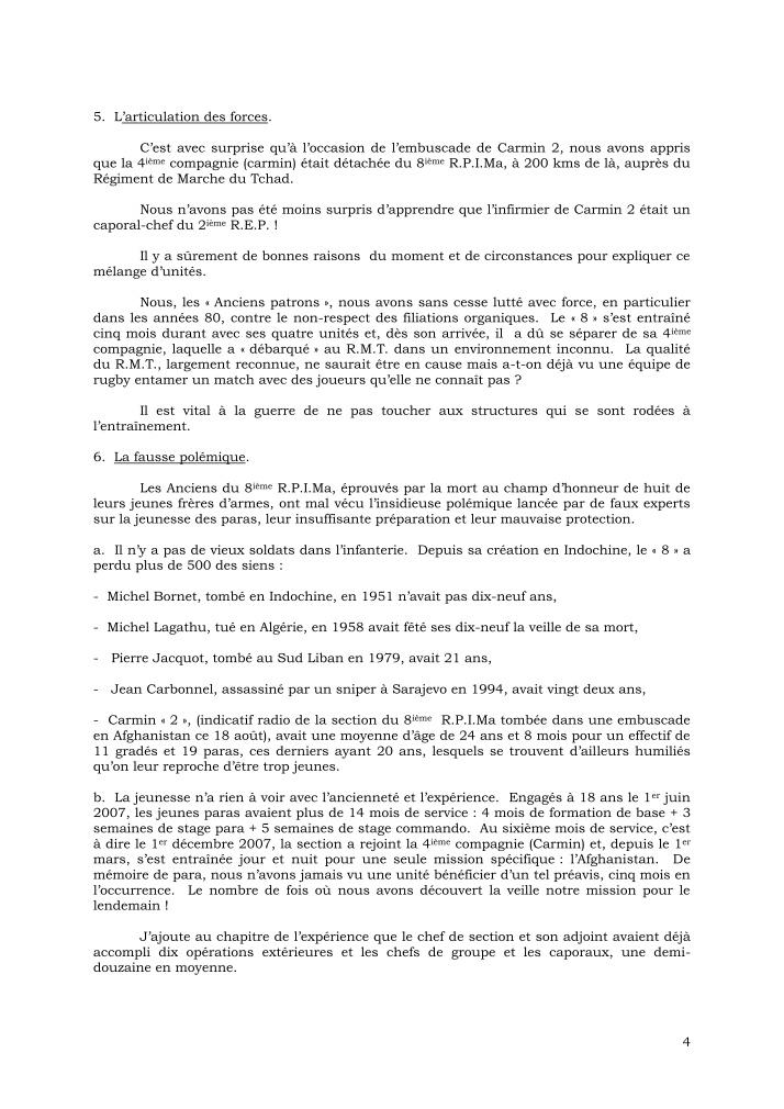 CANN François - général tire des leçons de l'embuscade d'Uzbeen - août 2008 Cann_g20