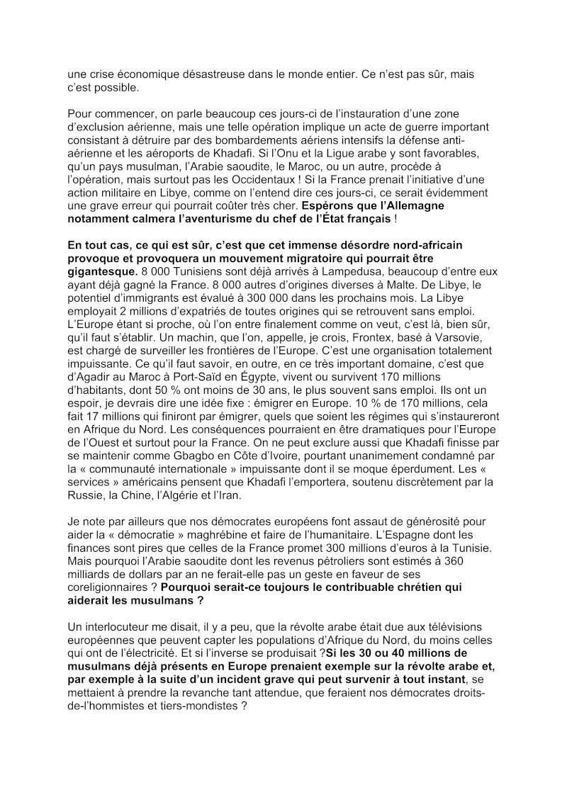 La démocratie en Afrique du Nord: anarchie, guerre, tuerie, vols, pillage et immigration - Christian Lambert ancien ambassadeur de France Democr11