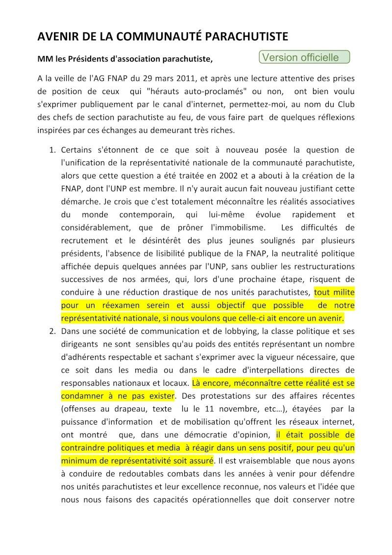THOMANN Jean-Claude GCA - Président du Club des Chefs de section parachutistes au feu - Il est indispensable de se mettre en ordre de bataille Fnam_u10
