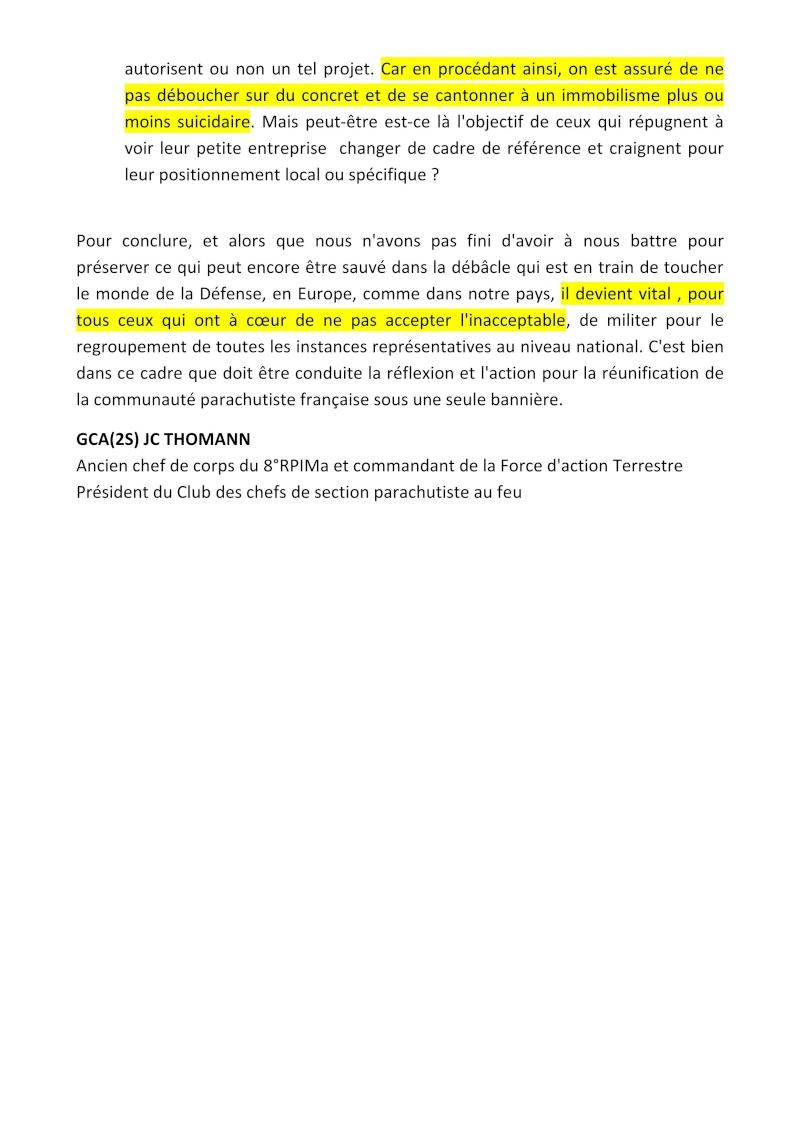 THOMANN Jean-Claude GCA - Président du Club des Chefs de section parachutistes au feu - Il est indispensable de se mettre en ordre de bataille Fnam_u13