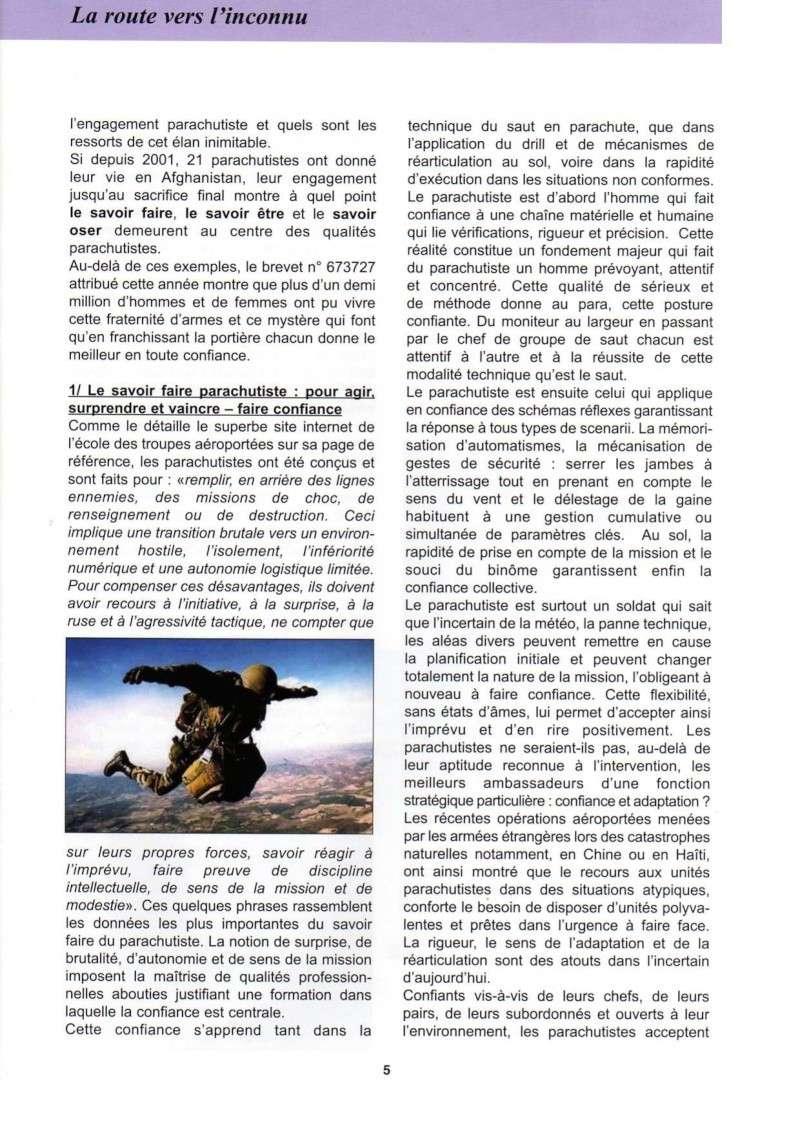 """La """"route vers l'inconnu"""". Quel rôle pour le parachutiste dans les temps incertains d'aujourd'hui  La_rou11"""