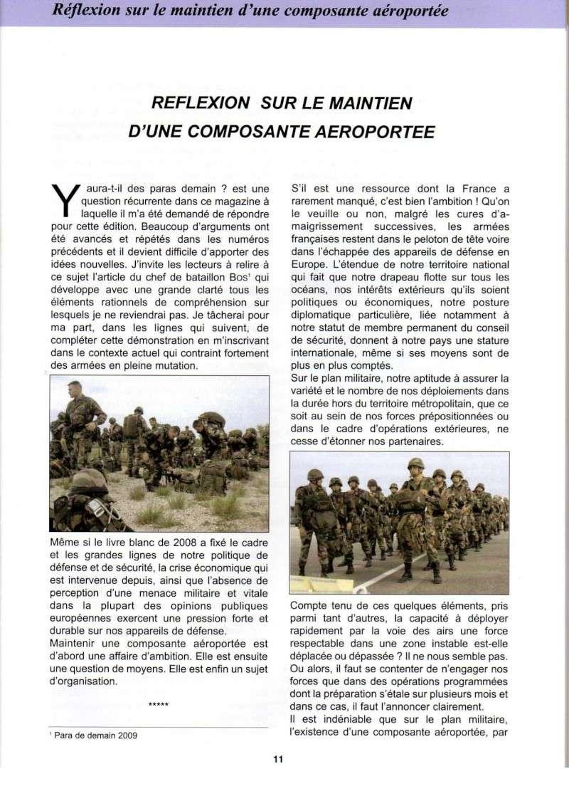 Réflexion sur le maintien d'une composante aéroportée par le colonel Guioni 8e RPIMa Manint10