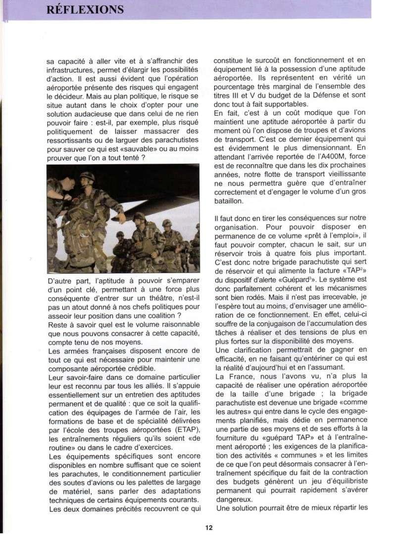 Réflexion sur le maintien d'une composante aéroportée par le colonel Guioni 8e RPIMa Manint11