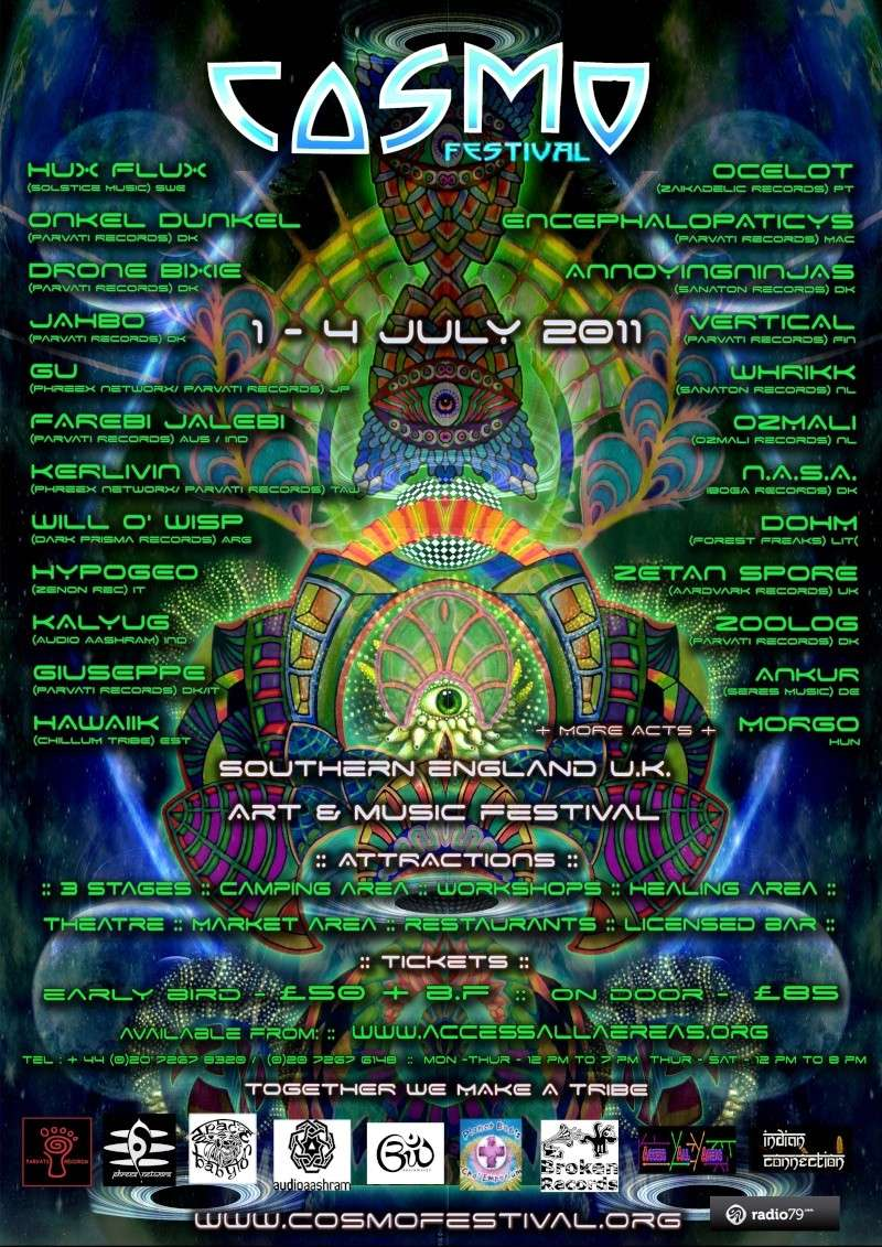 COSMo Festival 2011, U.K. Poster11