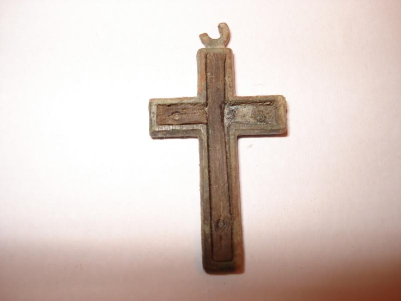Crucifix incrustation bois Début XXe siècle. Dsc00315