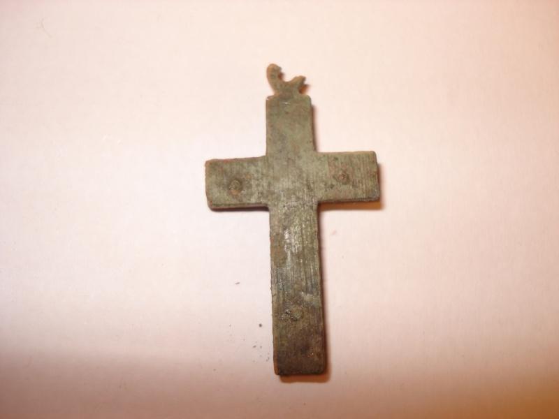 Crucifix incrustation bois Début XXe siècle. Dsc00316