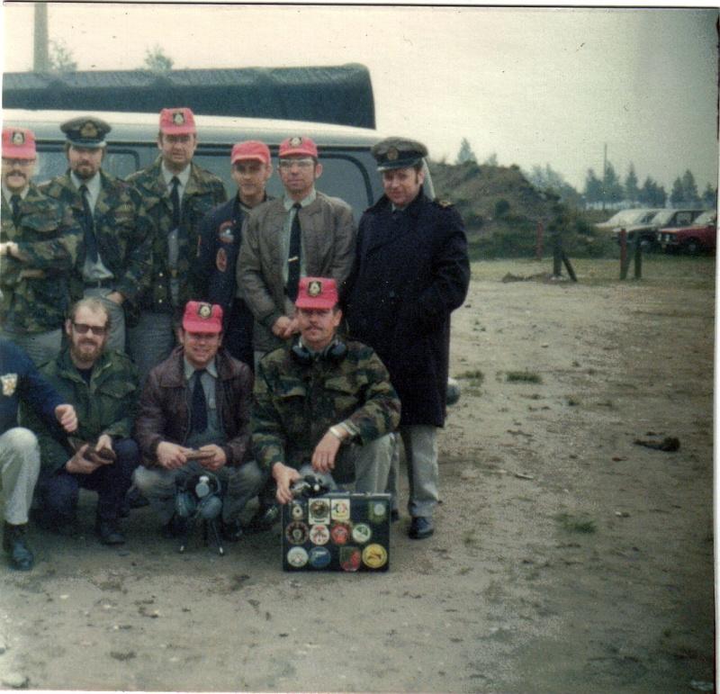 Equipe de tir sportif ZM/FN 1973 en route pour Bourg Leopold Equipe10