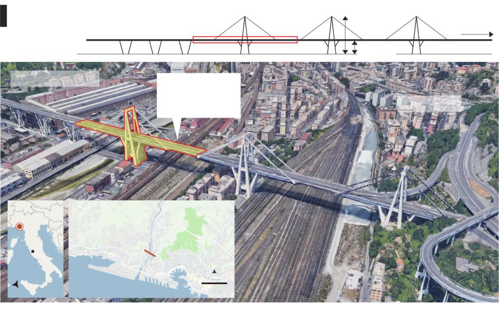 El viaducto Morandi en Génova (Italia): Expertos advirtieron que acabaría sufriendo un desenlace como el ocurrido. Viaduc10