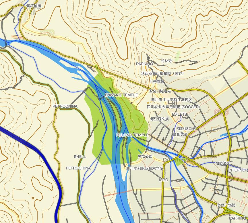 Visualisation fichier IMG sous GPS64S: carte de CHINE Captur11