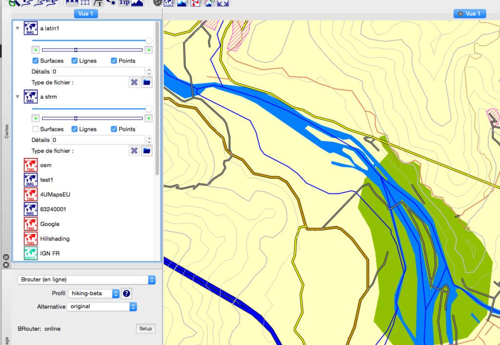 Visualisation fichier IMG sous GPS64S: carte de CHINE Captur17