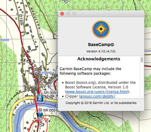 """Affichage désastreux des fenêtres """"détails des Waypoints"""" dans base camp pour Mac Captur21"""