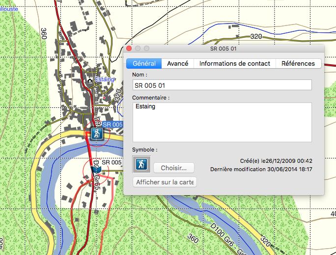 """Affichage désastreux des fenêtres """"détails des Waypoints"""" dans base camp pour Mac Captur22"""